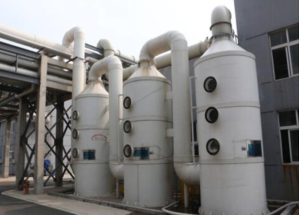 Scrubber exhaust gas purification